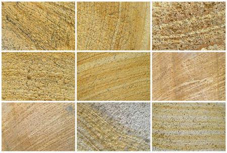 9 つの自然な石灰岩の背景やテクスチャ。本当の色。色の彩度なし