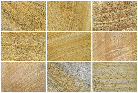 Nine Natural Limestone Background or textures. The real color. Without saturation of colors. photo