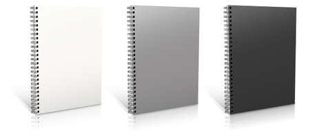 spiral binding: Spiral binder. Note pad with white