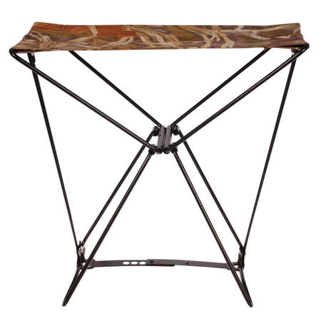Portable fishing camp-chair on white. Clipping path inside. Stock Photo - 18377499
