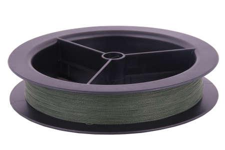 Braid on spool isolated on white Stock Photo - 18713519