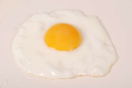 Fried Egg on ceramic frying pan