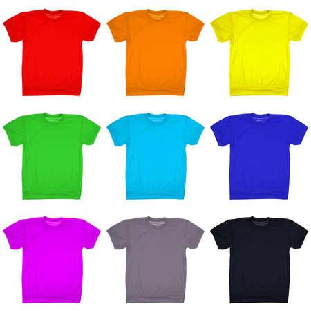 amarillo y negro: Nueve camiseta en blanco aislado en blanco. Foto de archivo