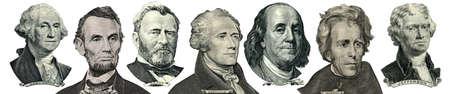 alexander hamilton: Presidente ritratti da soldi isolato su bianco. Testa verso destra
