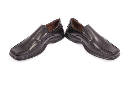 brogue: Leather shoes for men isolated on white background with soft shadow Stock Photo