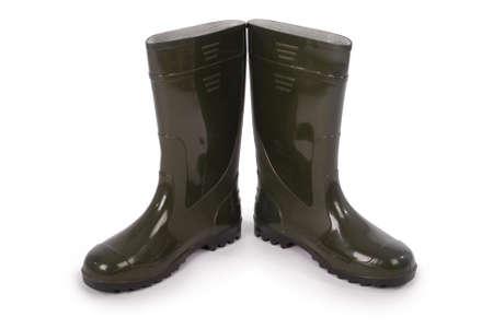 wellington: New wellington boots isolated on white background.