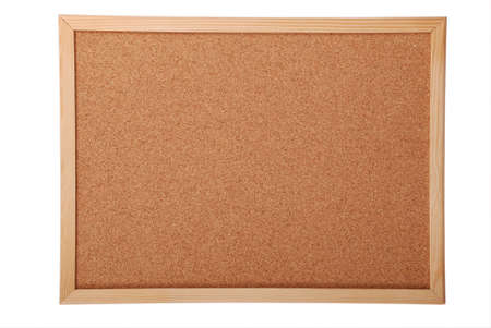 panels: Blank cork board for your ad isolated on white background (Clipping path)