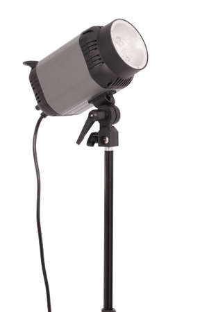 tubus: Studio lighting isolated on the white background with soft shadow Stock Photo