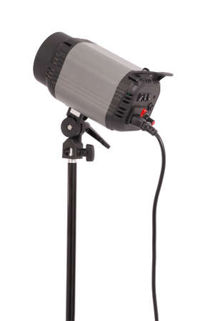 Studio lighting isolated on the white background with soft shadow Stock Photo