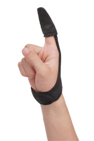 Perfect protection against cutting your hand with the line during long distance or repeated Stock Photo
