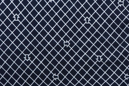 Blue and white checkered pattern fabric. High resolution photo. Full depth of field.