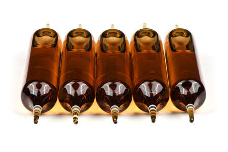 Ampoules isolated on white background. High resolution photo. Full depth of field.