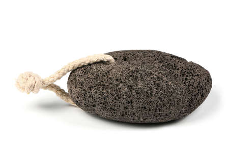 Pumice stone for spa isolated on a white background. High resolution photo. Full depth of field. Imagens