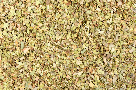 Dried oregano seasoning top view. High resolution photo. Full depth of field. Reklamní fotografie