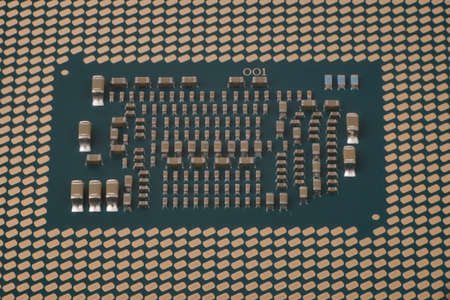 CPU: Central Processing Unit, Computer processor from the bottom side