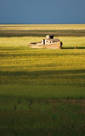 Abandoned boat photo