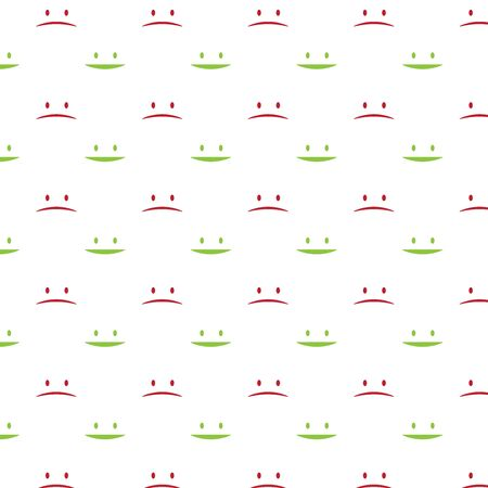 Happy-Unhappy sign seamless pattern. Vector Illustration