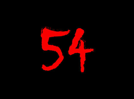 26 Horror bloody, scary vector number. Insane Fear brutal, scream font. Wicked night theme style design. Hand writing eps10 illustration
