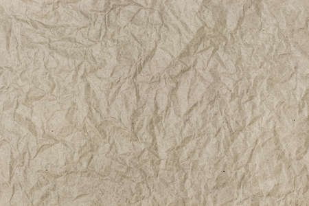 papery: Background of crumpled wrapping paper with a lot of small detail texture Stock Photo