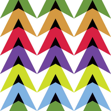 contrasty: Contrasting pattern of multi-colored figures