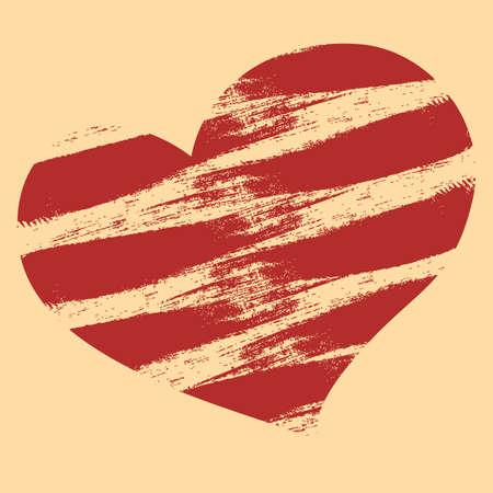 interesting: Interesting grunge heart on a yellow background
