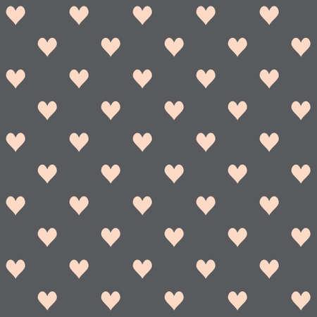 dark gray: Seamless pattern of hearts on a dark gray background.