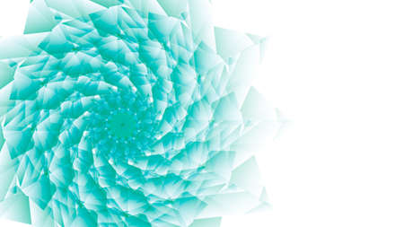 difficult: Difficult flower polygon style on a white background. Illustration