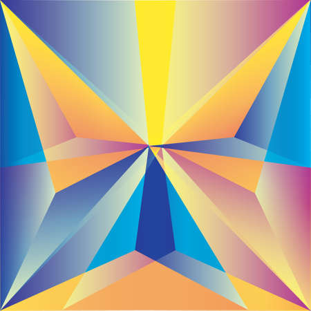 batterfly: Butterfly in the polygonal style. Bright colors. Figure of triangles