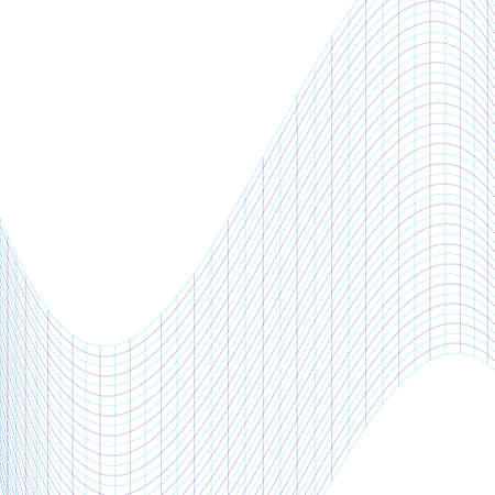 curvature: The geometric pattern of blue lines. The curvature of space. Wavy grill.