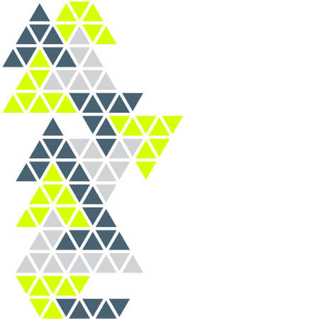 Background with geometric pattern of triangles on a white background.