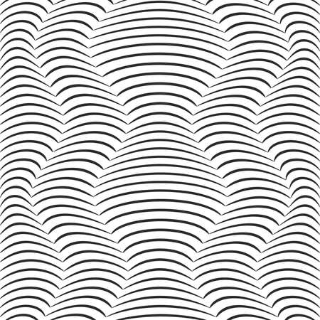 Background of distorted gray lines. Vector Image.