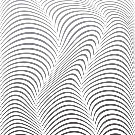 distorted: Background of distorted lines. Shades of gray on a white background. Vector Image.