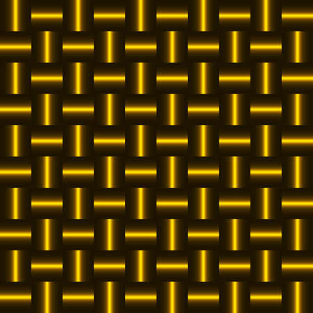 steel sheet: Background of golden squares. Chess order. Metal texture.