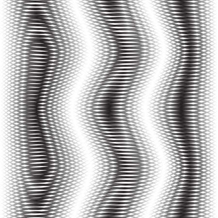 diffraction: Abstract background with wave shapes. The original pattern. Monochrome image. The distortion of space. Diffraction. Illustration