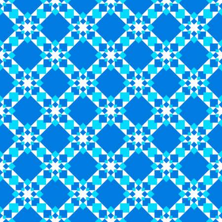 tessellation: Seamless image of blue squares. Monochrome image.