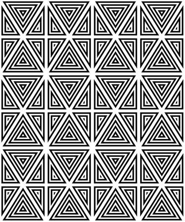 contrasting: Seamless pattern of black and white figures. The contrasting pattern.