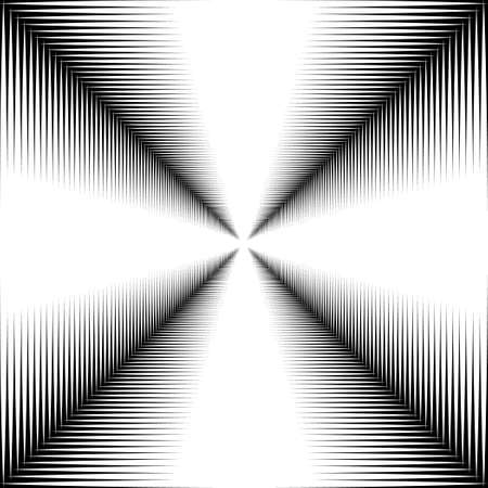 irridescent: Corridor of white lines on a black background. The contrast image.