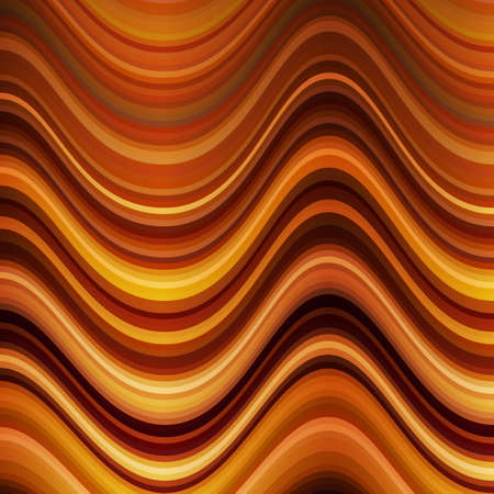 Abstract background in autumn colors. The distortion of space. Waves and lines.