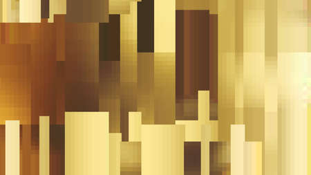 restrained: The original pattern of rectangles and squares. Shades of gold. The restrained tone. Volume texture. Illustration