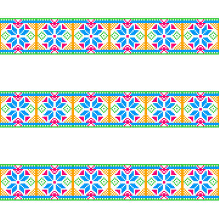 discrete: Bright pattern on white background. Seamless pattern of pixels. Illustration