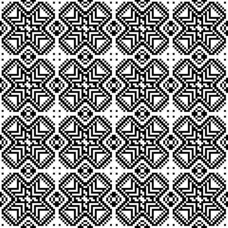 discrete: Seamless pattern of squares. Black and white image. Figures from the squares. Illustration