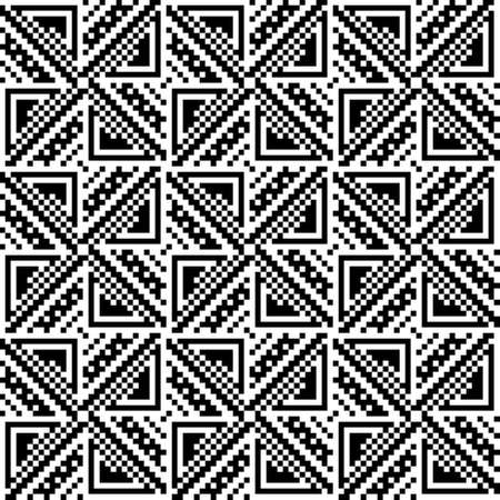 discrete: Abstract background of squares and triangles. White background. Seamless pattern. Illustration