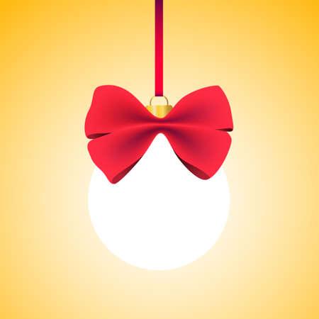caes: Resplandeciente esfera con un lazo rojo. El espacio vacío de contenido. Bombilla. Vectores