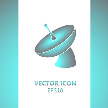 mobile communications: Icon satellite dish in modern style. Transmission of information. Internet and mobile communications. Telecommunications.