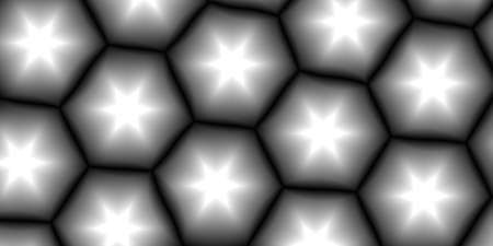 flaw: Abstract background with a pattern of cellular and stars. Geometric fantasy. Monochrome image.