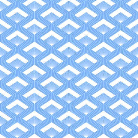 Abstract seamless background with white contours of geometric shapes. Elegant pattern.