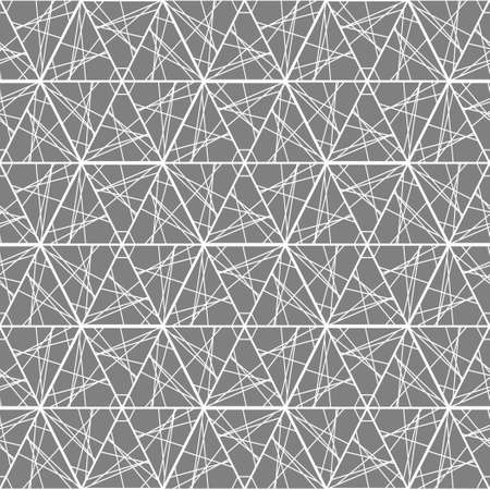 graphically: The geometric pattern of lines and triangles. Seamless monochrome pattern. Illustration