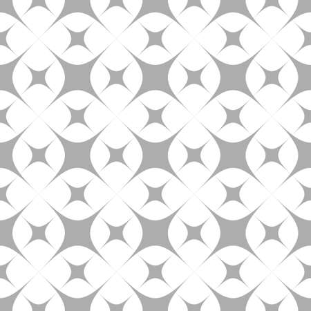 prickles: Seamless pattern and stars on a white background. Geometric figures. Illustration