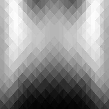 luster: Abstract background of gray triangles. Monochrome background. The metallic luster. Silver and steel shades.