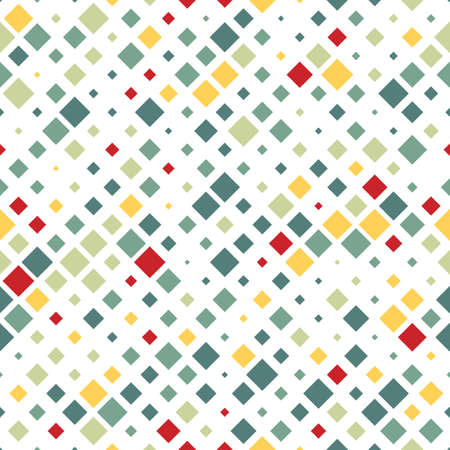 rows: Abstract pattern of colored squares. Warm shades. Illustration